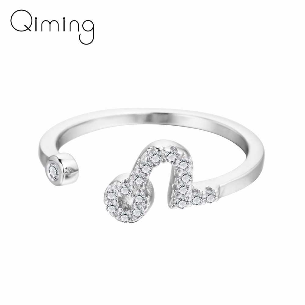 CZ Циркон Leo Кольца Дамы Feamale серебро кристаллическая Звезда Созвездие зодиака кольцо Рождественские ювелирные изделия для женщин девочек подарок на день рождения