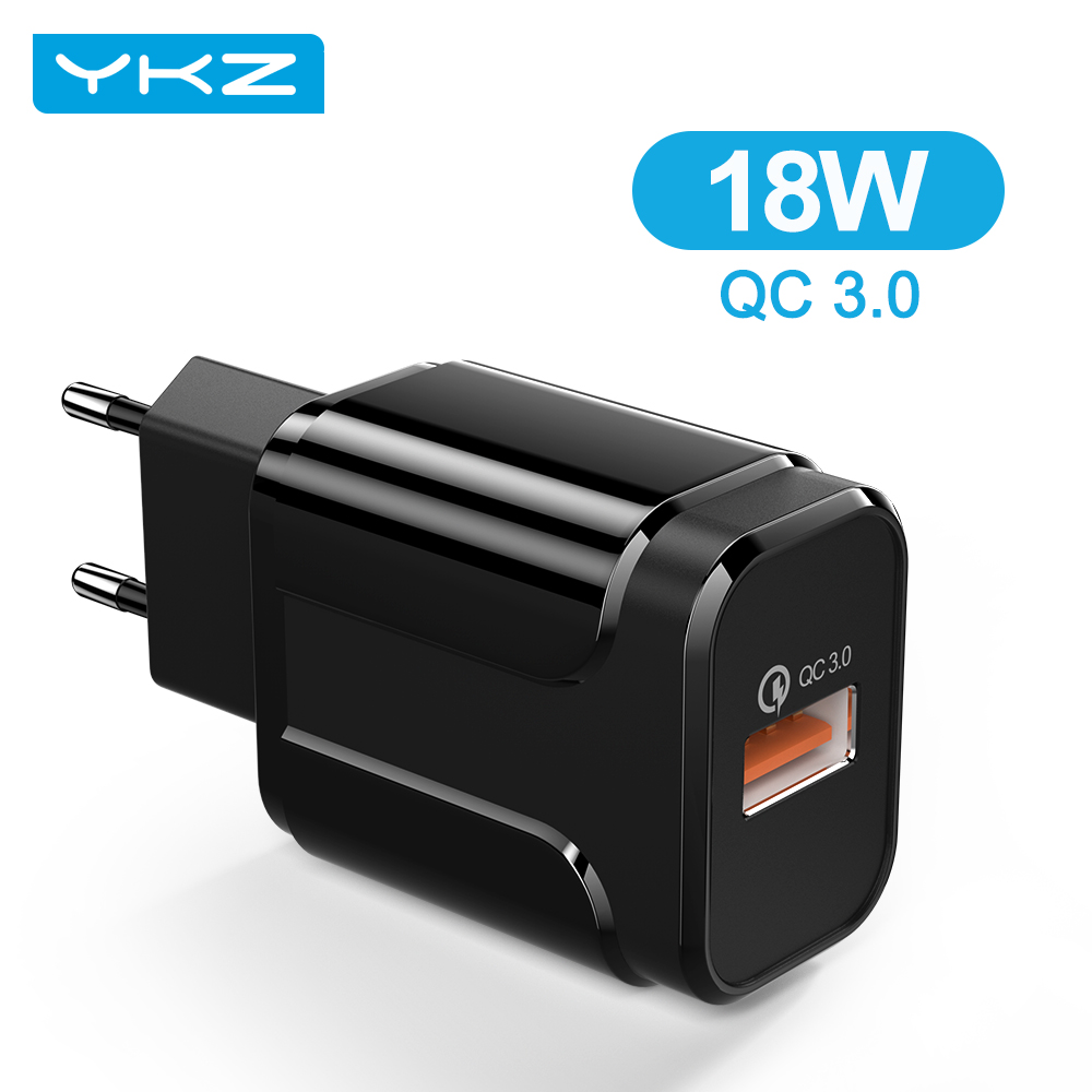 YKZ USB дорожное зарядное устройство быстрой зарядки 18 Вт мобильный телефон адаптер для iPhone 12 Pro Max EU/США Подключите зарядное устройство для Xiaomi...