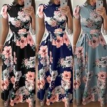 Женское прямое платье в пол летнее из полиэстера и ланона с