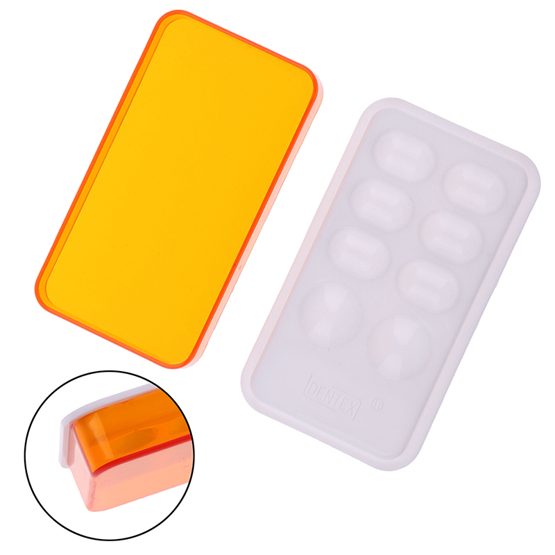 1PCS Dental Palette Resin Mixing Watering Moisturizing Plate With Cover 8 Slot Palette Dental Lab Equipment