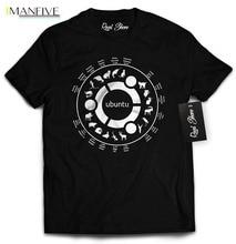 2019 New Mens T Shirts Linux Ubuntu Shirt (Medium) 100% Cotton Brand Streetwear harajuku funny t shirts men