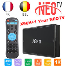1 Year Neotv pro IPTV Subscription Europe French Belguim IPTV M3U and X96H Smart TV Box Android9.0 Set Smart Top Box VS X96 Max(China)