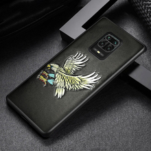 3D Emboss Genuine Leather Phone Case for Redmi Note