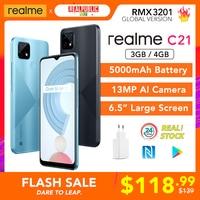 "[WORLD PREMIERE!] realme C21 4GB 64GB Global Version NFC 5000mAh Battery 6.5"" Large Screen MTK Helio G35 13MP AI Quad Cameras 1"