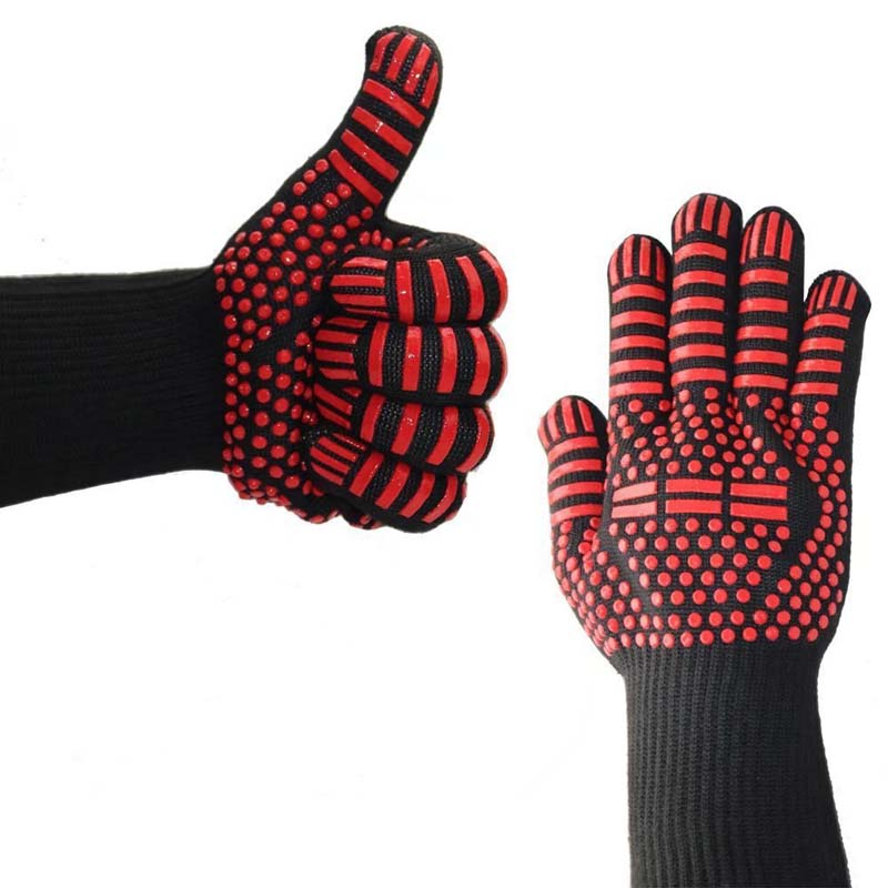 Silicone Gloves Fire Retardant Microwave Oven Insulation High Temperature Gloves