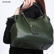 Luxury leather tote ZOOLER 2017 genuine women shoulder bags handbag bag real cowhide bolsa feminina #8130