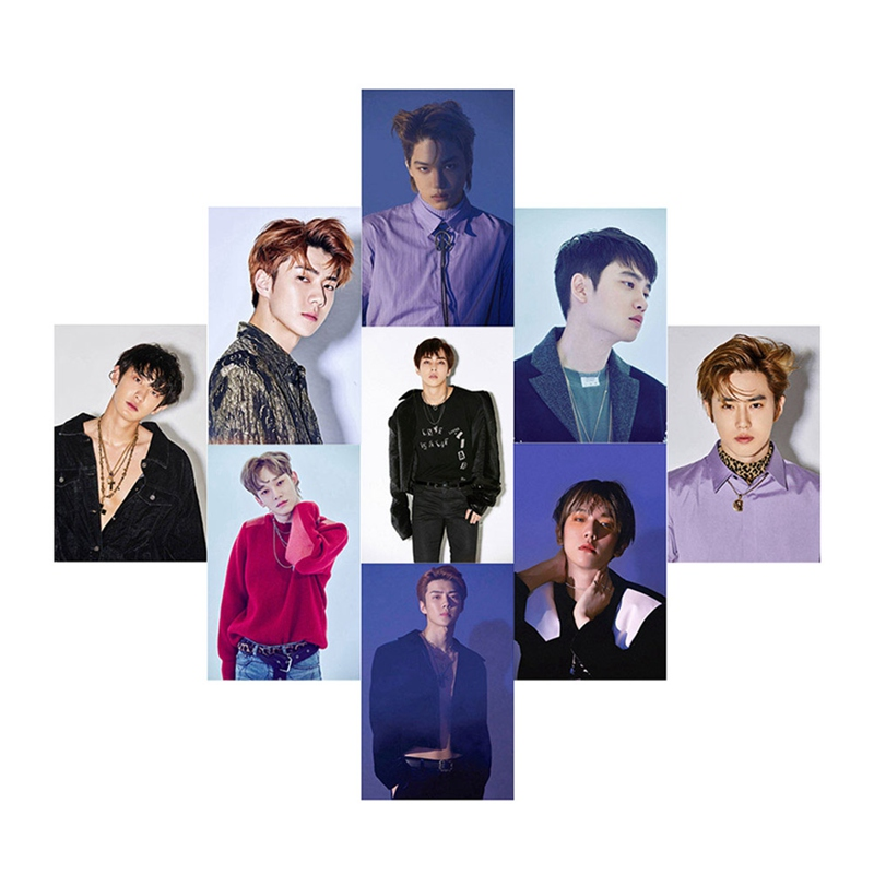 2019 Youpop KPOP EXO K M EXACT LOTTO Plant 3 EX'ACT Album Self Made Paper Cards K-POP Signature LOMO Photo Card Photocard