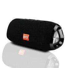 Портативный беспроводной bluetooth динамик, сабвуфер, громкий динамик с микрофоном, уличный динамик, звуковая система 10 Вт, стерео музыка, объемное звучание