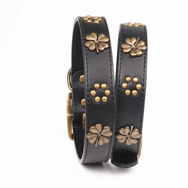 Amin Lattice New Style Bronze Pet Collar Dog Neck Ring