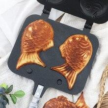 Waffle-Pan-Maker Fish-Shaped Taiyaki Cake-Bake 2-Molds Bakeware Dessert Buscuit Cooking