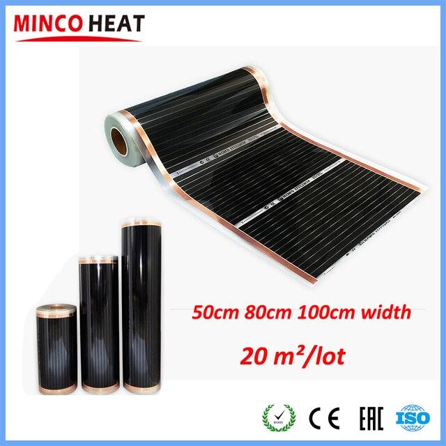 적외선 표면 난방 호일 전기 UNDERFLOOR 난방 필름, 액세서리와 적외선 220 중량/용적 필름