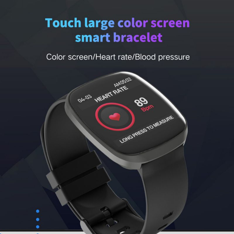 Multi Function Sport Bracele Waterproof Full Touch Control Smartwatch 24H Heart Rate Blood Pressure Monitor in Smart Wristbands from Consumer Electronics