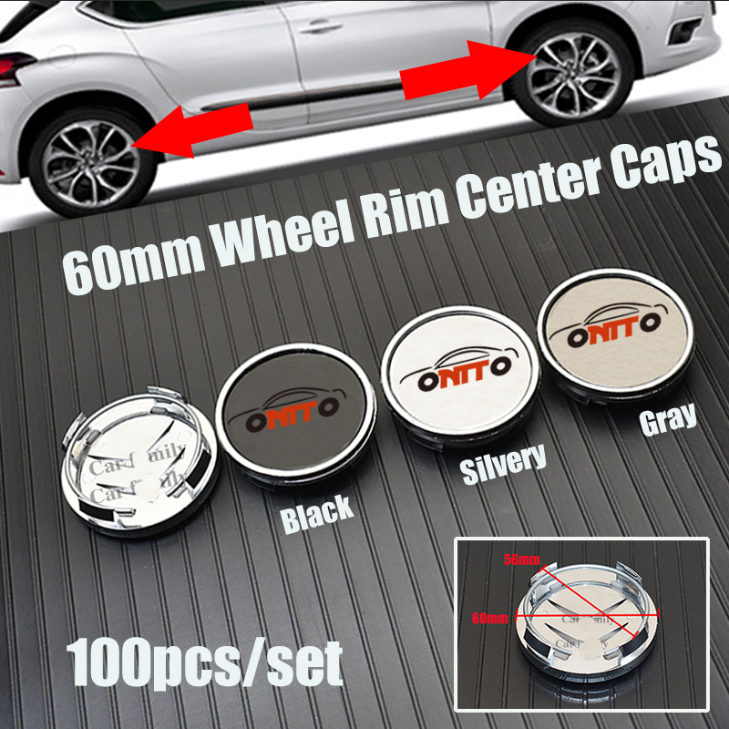 Wholesale 100pcs 6cm 60mm 2.36inch original Car Rims Wheel Hub Center Covers fit For PicassoC2/C3/C4C5/C6/C8/DS3/DS4/DS5|Tire Accessories| |  - title=