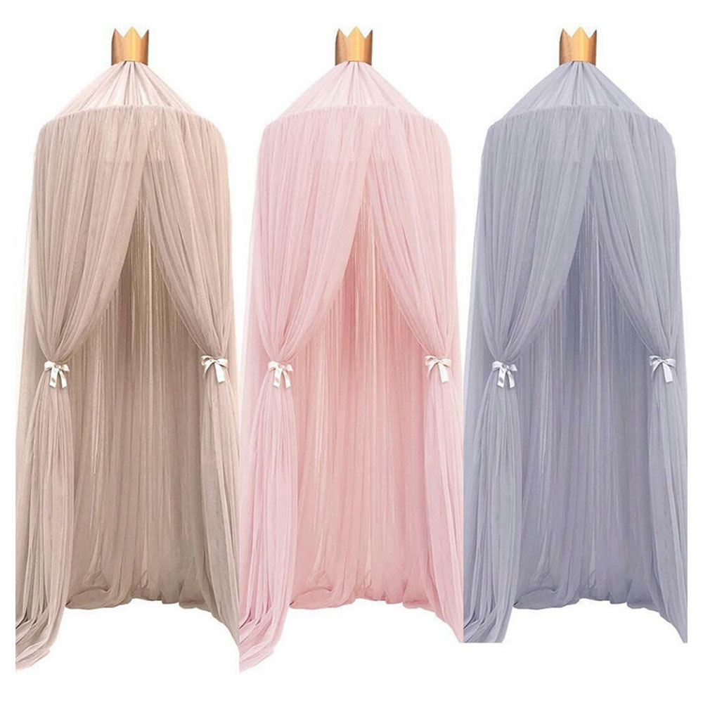 7 Colors Baby Bed Hanging Mosquito Net Dome Bed Canopy Mosquito Net Bedcover Curtain Round Crib Netting Tent Kids Room Decor