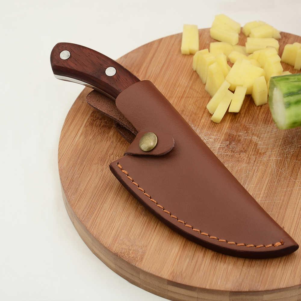 SOWOLL ปลอมแปลง 5.5 นิ้ว Boning Camping เซอร์เบียมีด Handmade Full Tang หั่น Chef KITCHEN มีดของขวัญหนัง Sheath