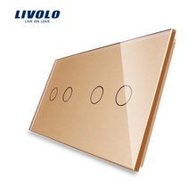 Livolo, Easy Life, 4-Gang Remote touch screen, Luxury Tempered Glass Panel, home wall light switch, VL-C702R-11/VL-C702R-11