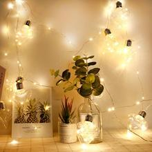 4.8m LED Copper Wire String Lights 10 Loving Heart Bulbs For Operated Wedding Party Decoration Lamps цена 2017