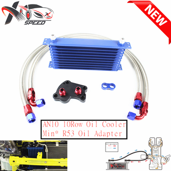 For Min* Coope* S R53 oil cooler + 10 row oil cooler AN10 10 rows oil cooler XXTOL10-9BL/BK