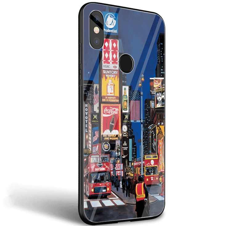 Стеклянный Чехол для мобильного телефона Xiaomi mi, 8, 9 Lite, A1, A2, красный, mi Note 5, 6, 7 Pro, 6A, 4X, F1, чехол, NYC, Нью-Йорк, городской пейзаж, милый