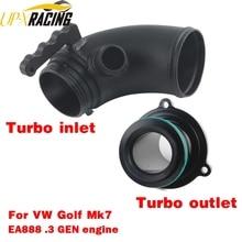 цена на Turbo inlet outlet upgrade pipes tubes Turbo Muffler delete  for golf 7 audi A3 8V S3 S1 TT leon EA888 Gen3 1.8T 2.0T
