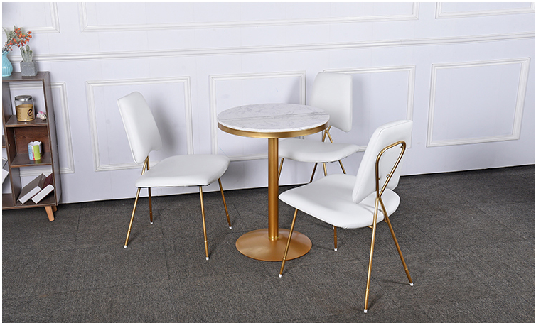 Купить с кэшбэком Leisure cafe negotiating table and chair combination marble net red shop restaurant small round table tea shop tables and chairs