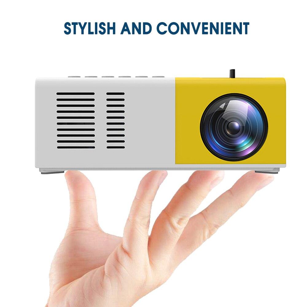 J9 mini projetor portátil suporte hdmi-compatível av usb hd 1080p vídeo media player led mini projetor de cinema em casa computador portátil-4
