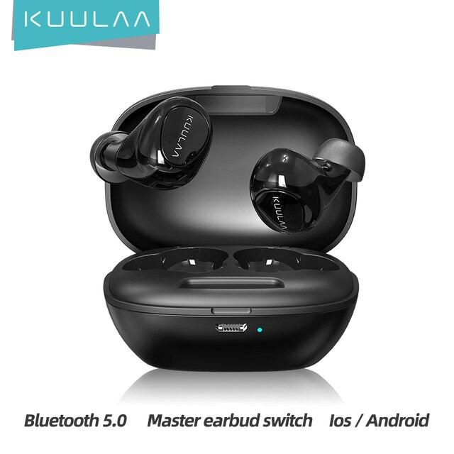 KUULAA TWS Bluetooth Earphone Wireless Headphones Bluetooth 5.0 Handsfree Gaming Headset Blutooth Earphone In Ear Sports Earbuds