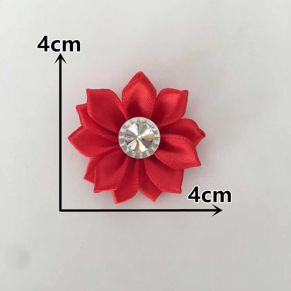 Kualitas Tinggi Tape Polyester Berlian Imitasi 3D Bunga Buatan Natal Dekorasi Rumah DIY Kerajinan Bunga Dinding Hadiah Kotak Aksesori