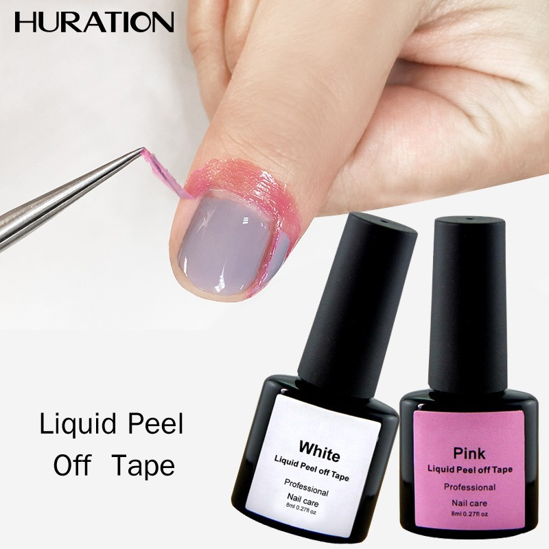 Huration New Care Cream Nail Peel Pink White Latex Off Nail Polish Tape Skin Protection Gel Defender Art Edge Nail Gel Polish