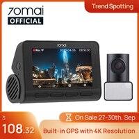 70mai A800S Dash Cam 4K GPS incorporato ADAS Real 70mai 4K A800 Camera UHD Cinema-qualità immagine 24H parcheggio 140FOV supporto telecamera posteriore