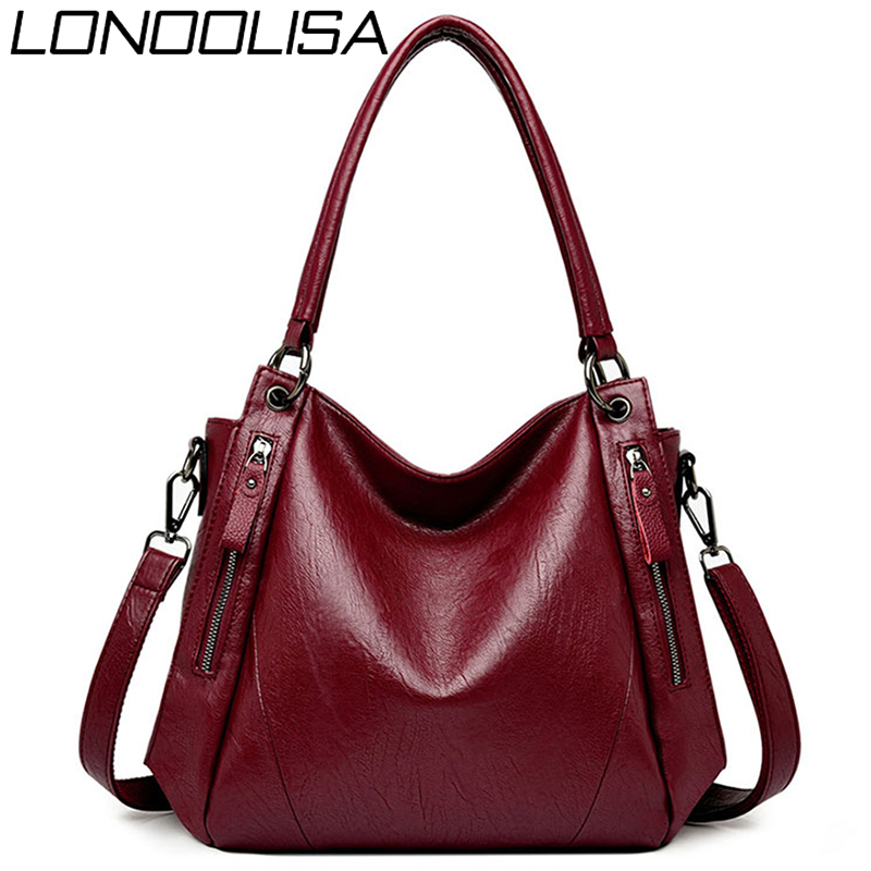 Double Zipper Ladies Hand Bags For Women 2019 Bolsa Feminina Soft Leather Luxury Handbags Women Bags Deisgner Casual Tote Sac