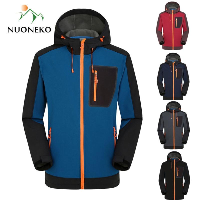 Softshell Hiking Jackets Men Windproof Waterproof Outdoor Jacket Men's Soft Shell Windbreaker Rain Coat Trekking Jackets JM09