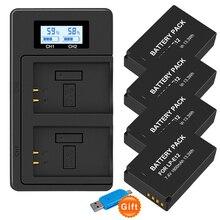 LP E12 LPE12 LP E12 Pin Máy Ảnh + Màn Hình LCD USB Sạc Đôi Cho Canon M 100D Kiss X7 Nổi Dậy SL1 EOS m10 EOS M50 Máy Ảnh DSLR