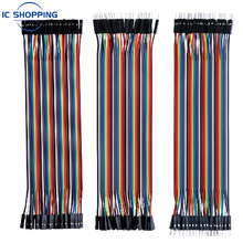 Jumper Wire 40PCS DuPont Line DuPont Cable Connection male to male+female to female and male to female for Arduino DIY KIT