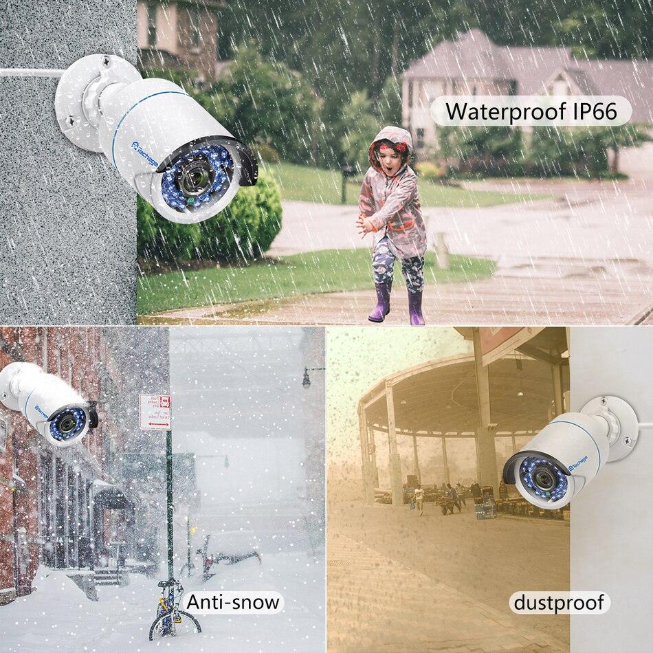 Image 4 - Techage 8CH 1080P NVR комплект POE безопасности наружная Водонепроницаемая камера система 2MP аудио IP Камера IR Cut CCTV комплект видеонаблюденияСистема наблюдения    АлиЭкспресс