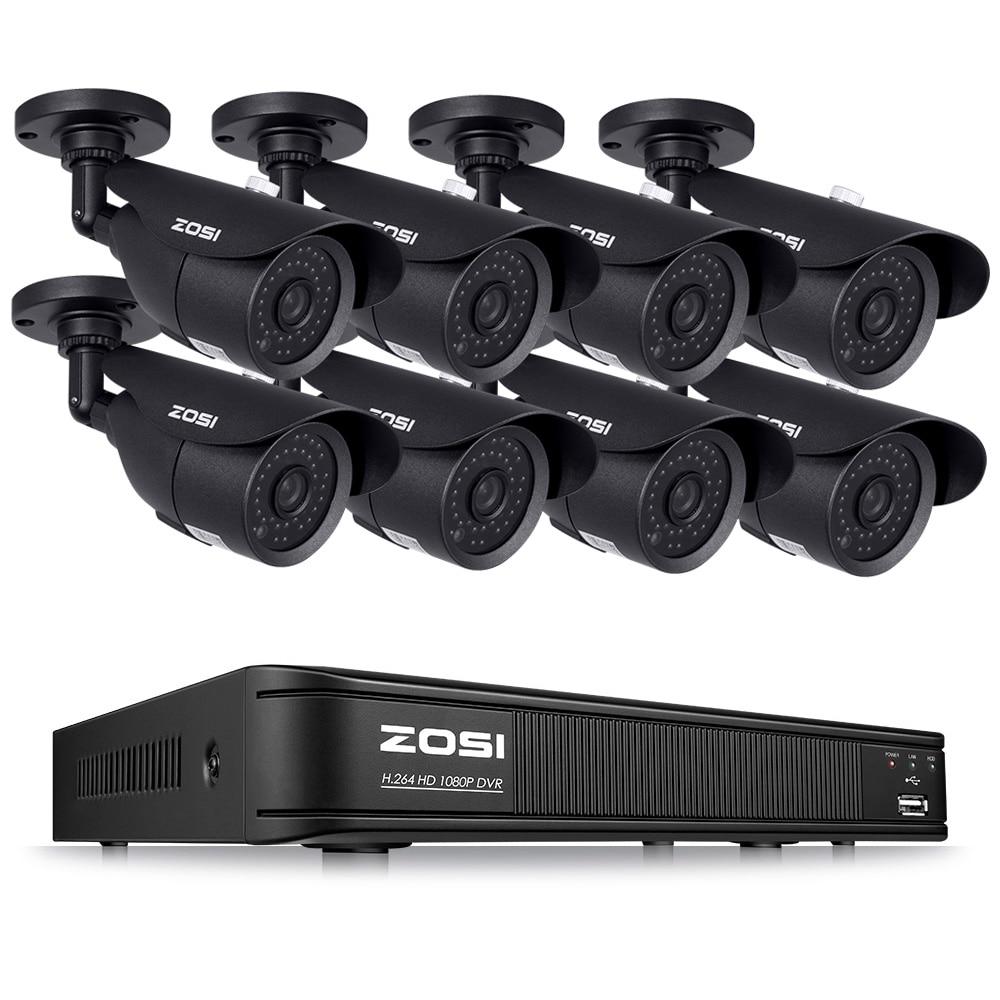 ZOSI HD TVI 8CH 1080P DVR Kit 2.0MP Beveiligingscamera's Systeem 8*1080P Dag Nachtzicht CCTV Home veiligheid Geen HDD-in Bewakingssysteem van Veiligheid en bescherming op  Groep 1