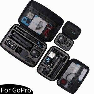 Image 3 - 휴대용 스토리지 가방 Shockproof 운반 케이스 DJI Osmo 액션 보호 상자 GoPro 영웅 8 7 6 5 스포츠 카메라 액세서리