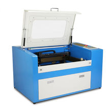 Ruida Controller CO2 Laser Engraving Cutting Machine With Auxiliary Rotary Axis Wood Enrgraver and Cutter 50W