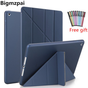 TPU Case for 10.2 iPad Pro 10.5 Air 3 2019 Thin Case Flip Stand Magnet Case For iPad 9.7 Case 2017 2018 5th 6th Tablet Cover+Pen(China)