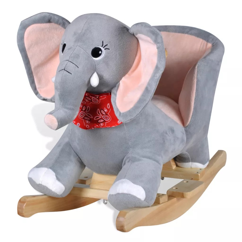 Vidaxl Baby Rocking Elephant Children'S Rocking Horse Toy Educational For Baby Gift Outdoor Indoor Playroom Kids Rocking Chair