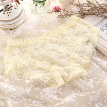 Factory direct sales Taobao explosive lace screen rose sexy cute underwear ladies elastic triangle comfortable