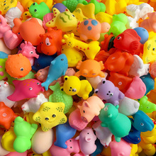 5Pcs/pack cartoon animal fish bath toys colorful soft rubber playing swimming water toys for baby squeeze sound classic toys