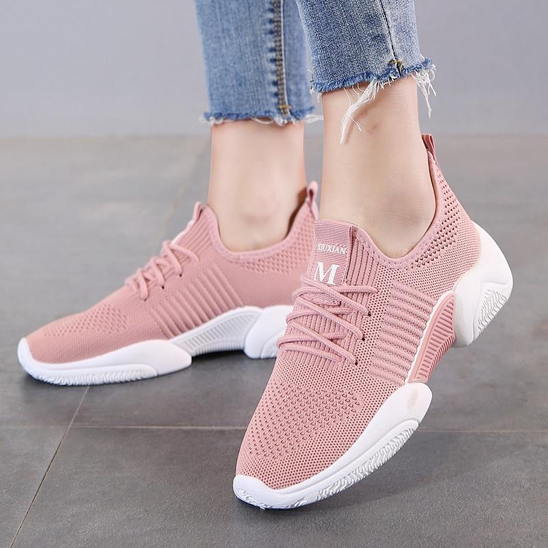 Женские модные детские кроссовки, удобные сетчатые дышащие Нескользящие кроссовки, светильник, спортивная обувь для путешествий и