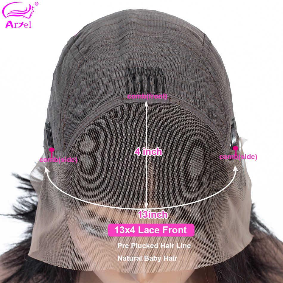 Peluca de onda profunda Bob pelucas delanteras de encaje 13 × 4 pelucas de cabello humano frontal de encaje para mujeres negras Remy mongol peluca de encaje de Bob