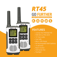 Retevis rt45 pmr rádio walkie talkie 2 pces pmr pmr446 frs acessível em dois sentidos rádio comunicador família walkie-talkie walkie-talkies