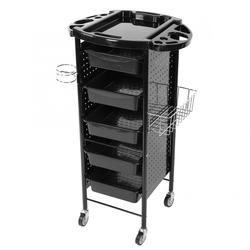 6 طبقات تخزين عربة تسوق الرف مع عجلات لصالون الشعر وصالونات عربة تسوق
