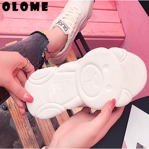 Image 3 - Scarpe Da Tennis delle donne Nuova Versione Coreana Con Orso Traspirante Fondo vecchie Scarpe Super Fuoco Scarpe Sportive Femminili Piccole Scarpe Bianche delle donne scarpe  scarpe donna scarpe ginnastica donna