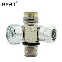 HPAT покрытием M18* 1,5 Пейнтбол вкл/выкл клапан с манометром 3000psi или заполнения Ниппель для CO2 ЦИЛИНДР