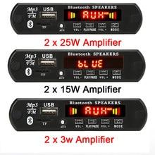 2*15W/2*25W Versterker MP3 Speler Bluetooth Decoder Boord 12V Bluetooth 5.0 50W Versterker Auto Fm Radio Module Ondersteuning Tf Usb Aux