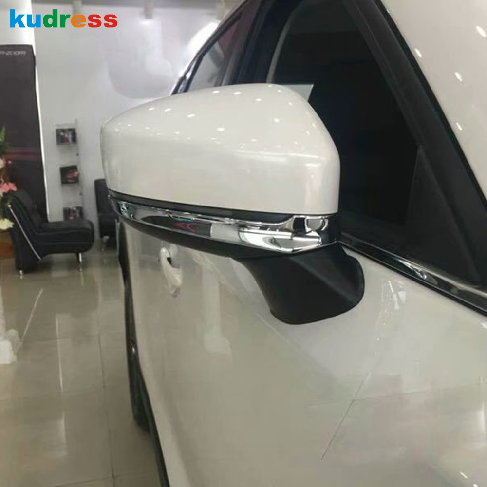 For <font><b>Mazda</b></font> CX-5 <font><b>CX5</b></font> KF 2020 2017 2018 <font><b>2019</b></font> Chrome Rear View Door Side Rearview Mirror Cover Trim Protector Car Styling Sticker image